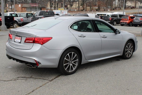 2018 acura tlx 3.5l v6 sh-awd w/technology package silver